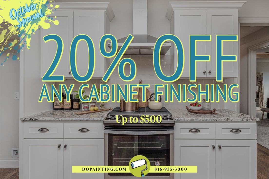 October Painting Special - 20% off cabinet finishing in Kansas City